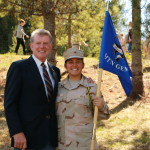 Cadet Valle with Governor